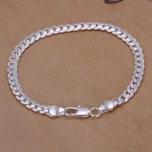 Brand new sterling silver bracelet 925 stamp 8""